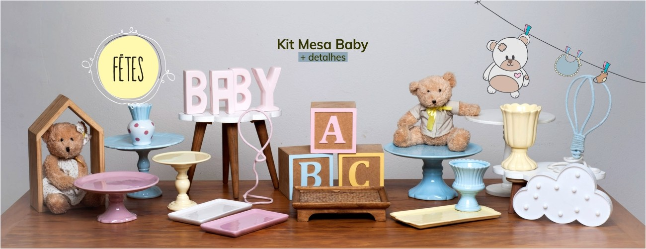 Kit Mesa Baby Locação de artigos para festa
